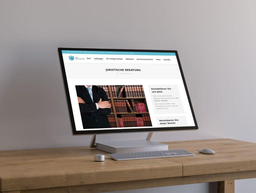 Kanzlei Homepage Steuerberater