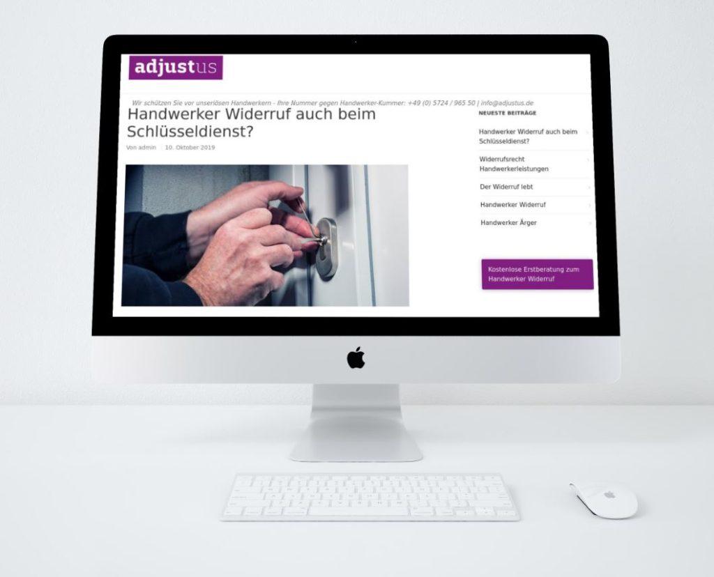 Kanzlei Homepage für Steuerberater