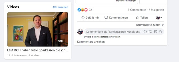 Facebook Marketing Rechtsanwälte